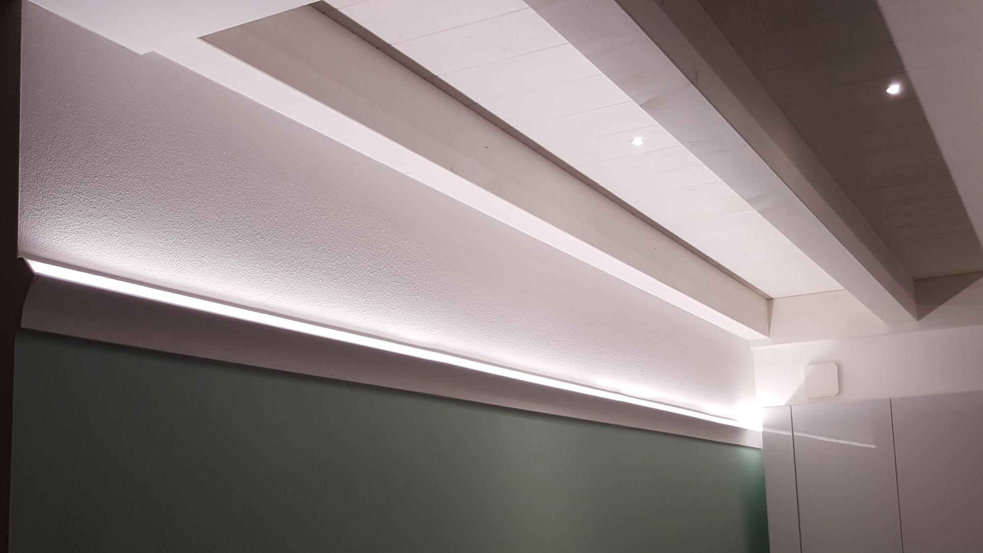 EL402 profili illuminazione indiretta led render ambiente