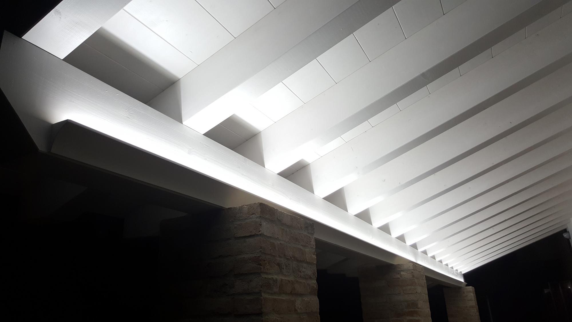 EL702 profili illuminazione indiretta led render ambiente