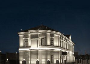 Cornici decorative per facciata con illuminazione indiretta led