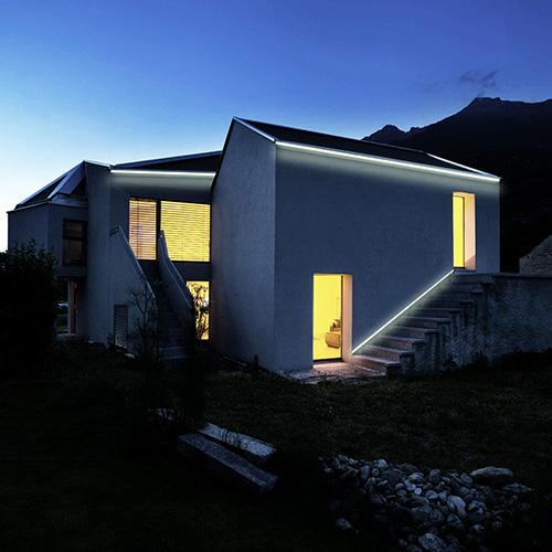 Profili illuminazione indiretta led per esterno