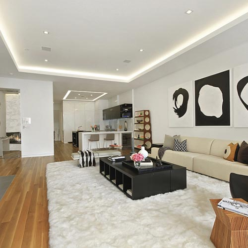 velette luce diffusa soffitto e parete