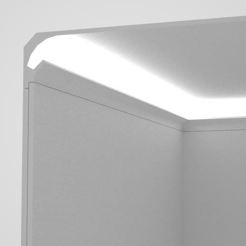 EL201 - cornice for indirect lighting cut