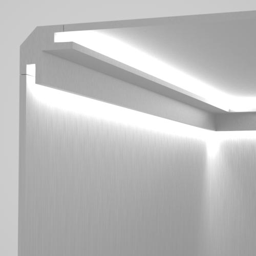 EL203 - cornice for indirect lighting cut