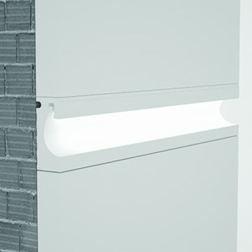 exterior wallwasher cornice for indirect lighting cut