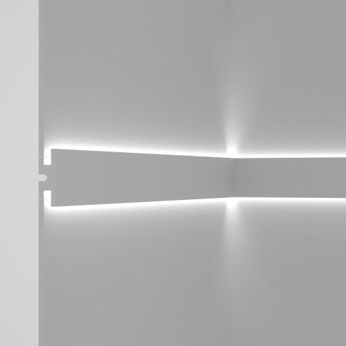 EL302 - cornice for indirect lighting cut