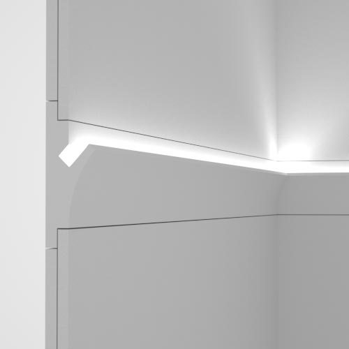 EL402 - cornice for indirect lighting cut