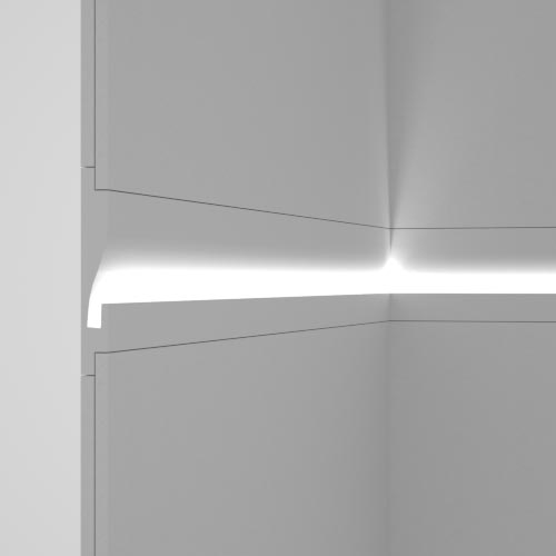Recessed plaster-in cornices for indirect lighting - Eleni Lighting
