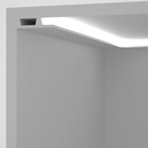 EL504 - cornice for indirect lighting walkway step-lighting