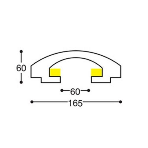 EL112 indirect lighting recessed cornice