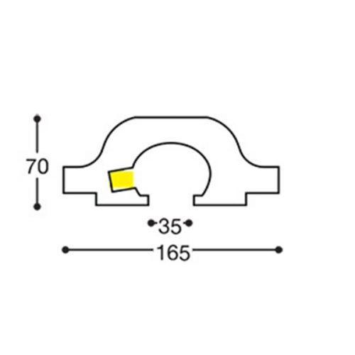 EL119 indirect lighting recessed cornice