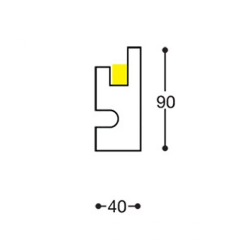 EL301 indirect lighting recessed cornice