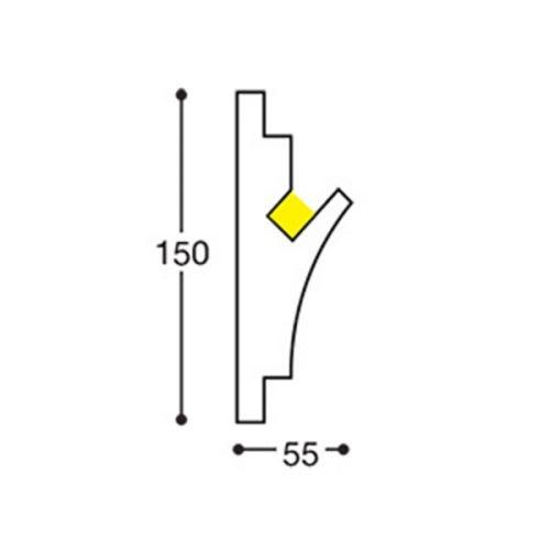 EL402 indirect lighting recessed cornice