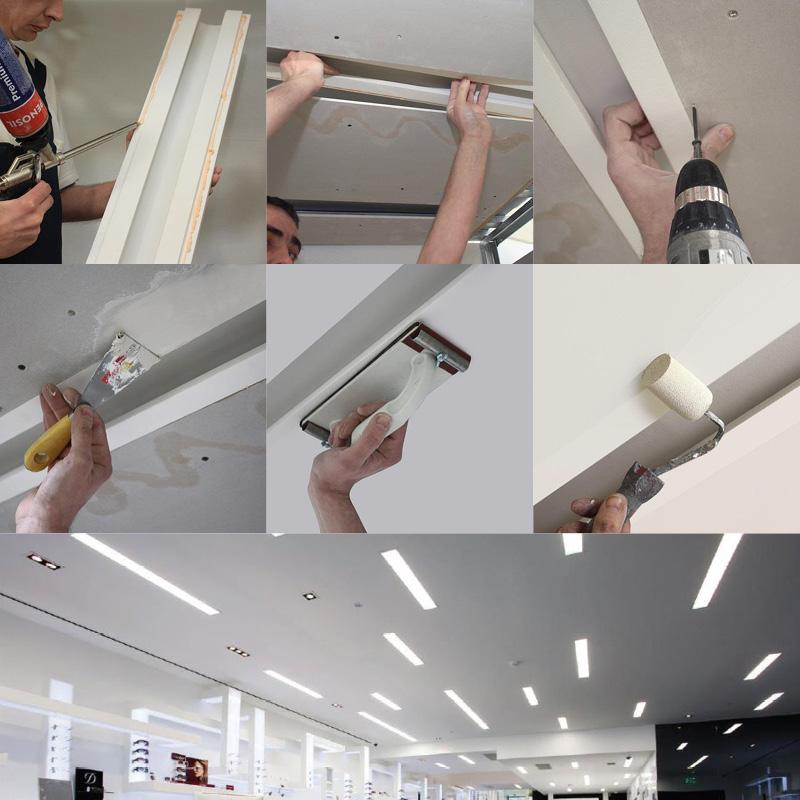 Tagli di luce diffusa velette in cartongesso installazione