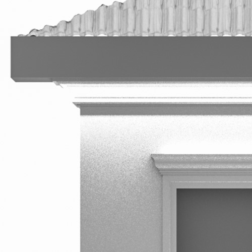 Cornices – led step lighting under eave cornices for outdoor facade wall