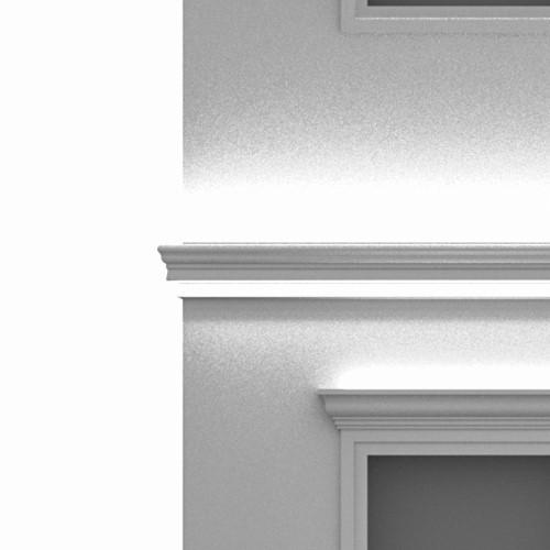 Led lighting string-course cornices for outdoor facade walls