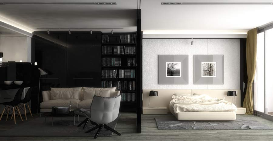 Illuminazione diffusa soggiorno
